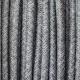 Dark canvas round textile cable