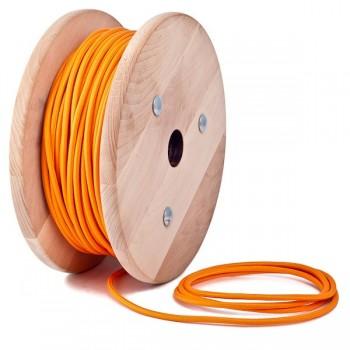 Orange round textile cable