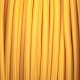 Mustard yellow round textile cable