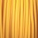 Горчичено жълт кабелен шнур с текстилна оплетка