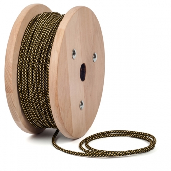 Salamander pattern round textile cable