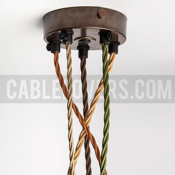 Ceiling Rose With Multiple Cable Outlet Antique Brass