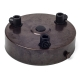 Ceiling rose with multiple cable outlet | Antique bronze