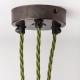 Ceiling rose with multiple cable outlet   Antique bronze