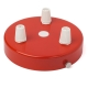 Steel ceiling rose with multiple cable outlet • Red color