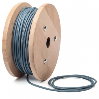Smoky blue round textile cable