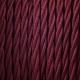 Bordeaux twisted textile cable