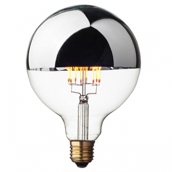 LED Filament Globe Light Bulb G125 • Top Mirror • Dimmable