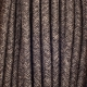 Brown canvas round textile cable