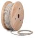Светла канаваца тройно усукан кабелен шнур с текстилна оплетка