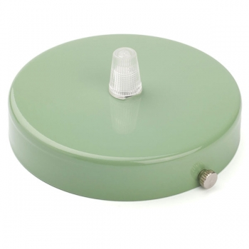 Ceiling rose with multiple cable outlet • Pastel Green