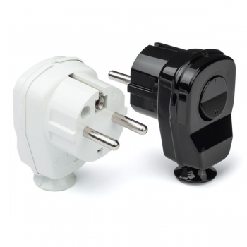 Schuko plug with switch • 2P+E