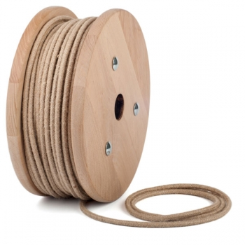 Jute round textile cable