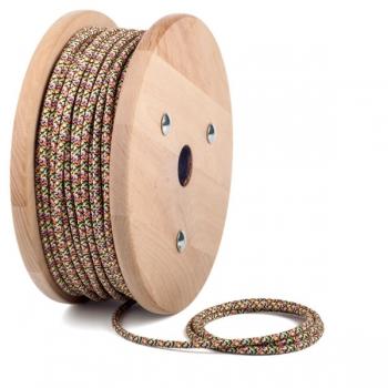 Конфети шарка кабелен шнур с текстилна оплетка
