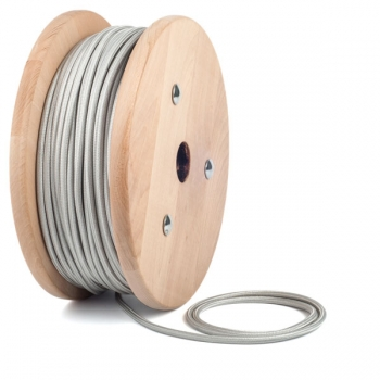 Silver round textile cable