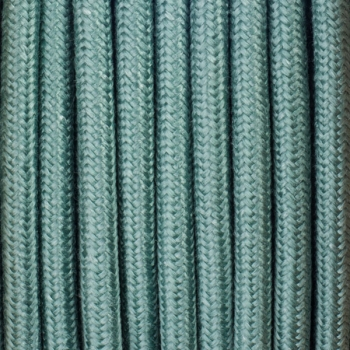 Sage green cotton round textile cable
