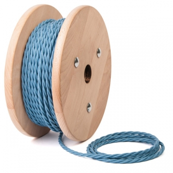 Sky blue cotton twisted textile cable