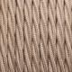 Бежов тройно усукан памучен текстилен кабел
