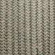 Beige sage zig-zag cotton round textile cable