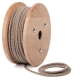 Beige brown zig-zag cotton round textile cable