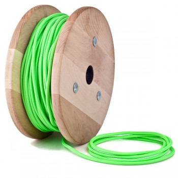 Зелен неон кабелен шнур с текстилна оплетка