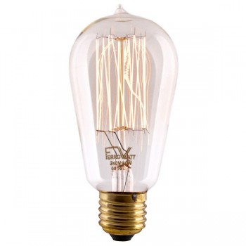 Squirrelcage Filament Bulb antique Edisson replica