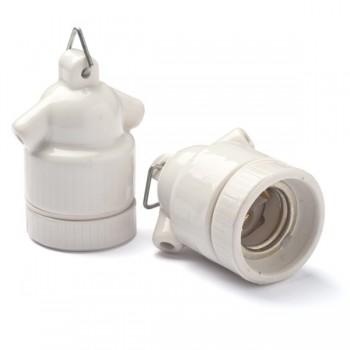 Pendant porcelain lampholder E27 (two holes)