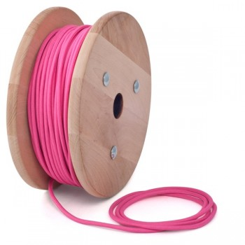 Fuchsia pink round textile cable