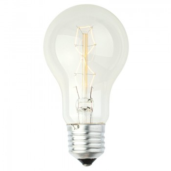 Decorative rustic glow filament light bulb